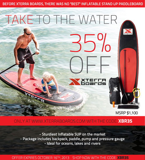 XTERRA Boards 35% Off